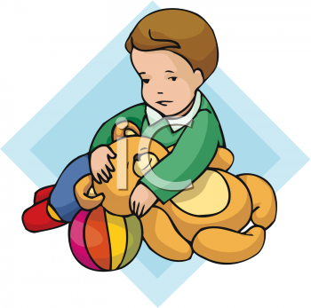 Little Boy clipart boy toy With  Toys A His