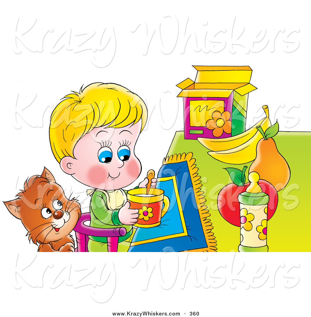 Breakfast clipart little boy A Brown As Cat Clipart