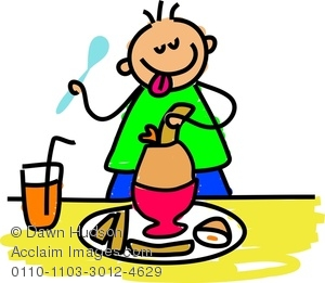 Breakfast clipart little boy Boiled Hungry Breakfast Eating Image