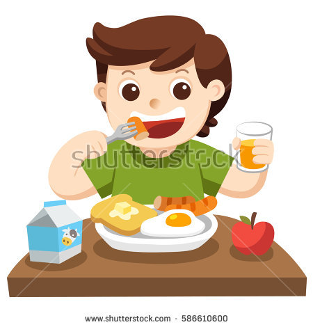 Breakfast clipart little boy Vectors art At clip of