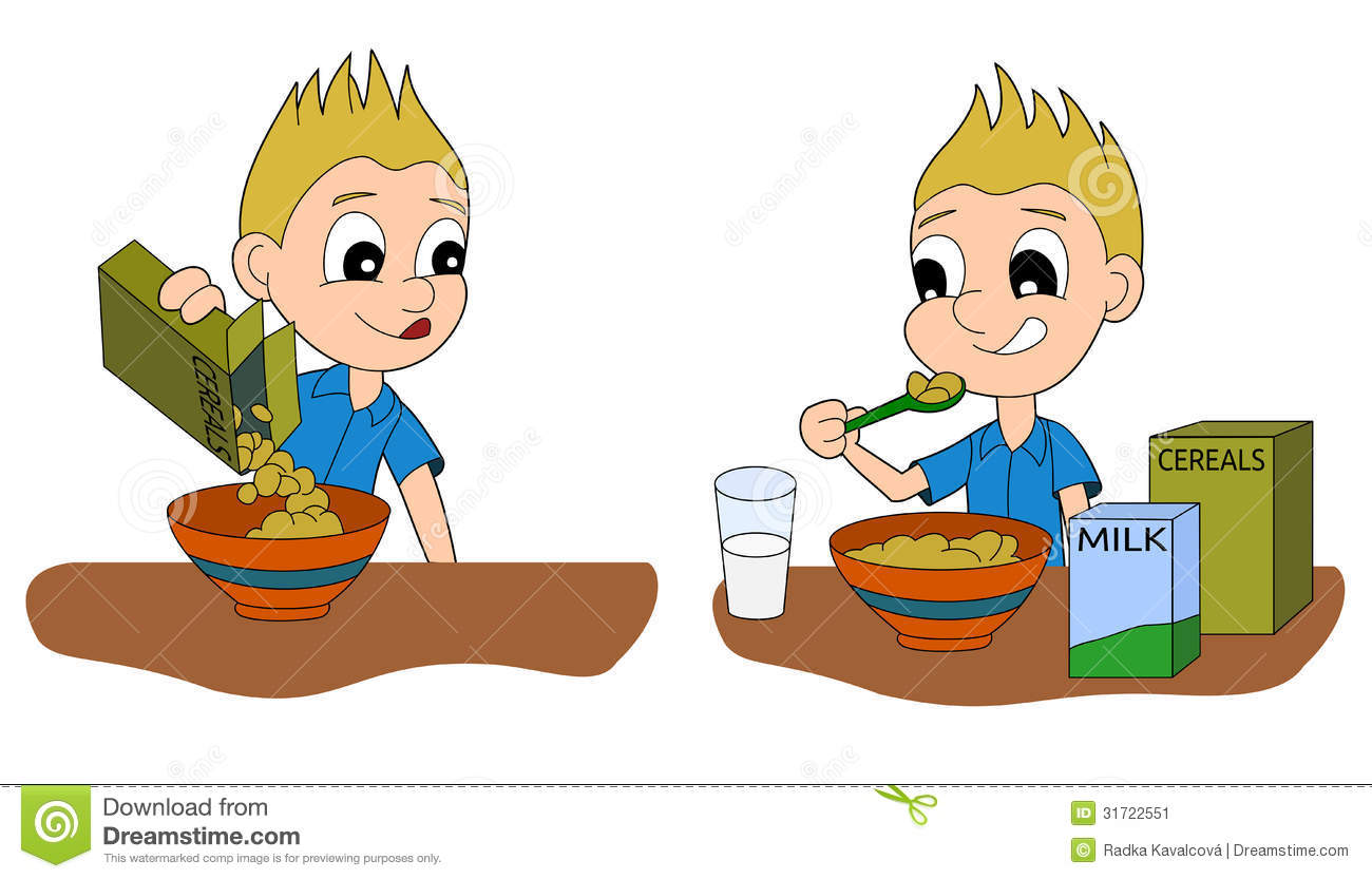 Breakfast clipart little boy Hd collection eat clipart Boy