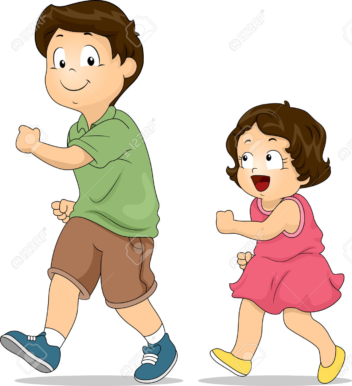 Little Boy clipart brother Brother: clipart cartoon Illustration Brothers