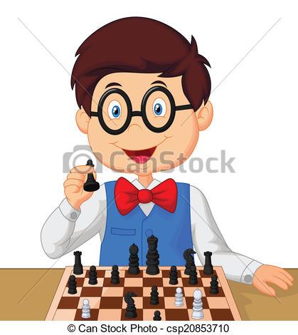 Little Boy clipart cartoonized Art Clip Little cartoon chess