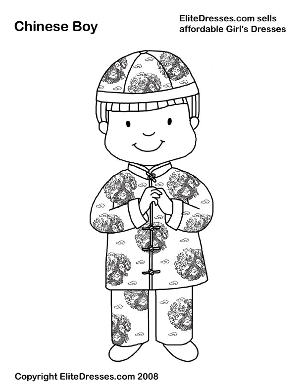 Traditional clipart chinese child New Pages Chinese Dress in
