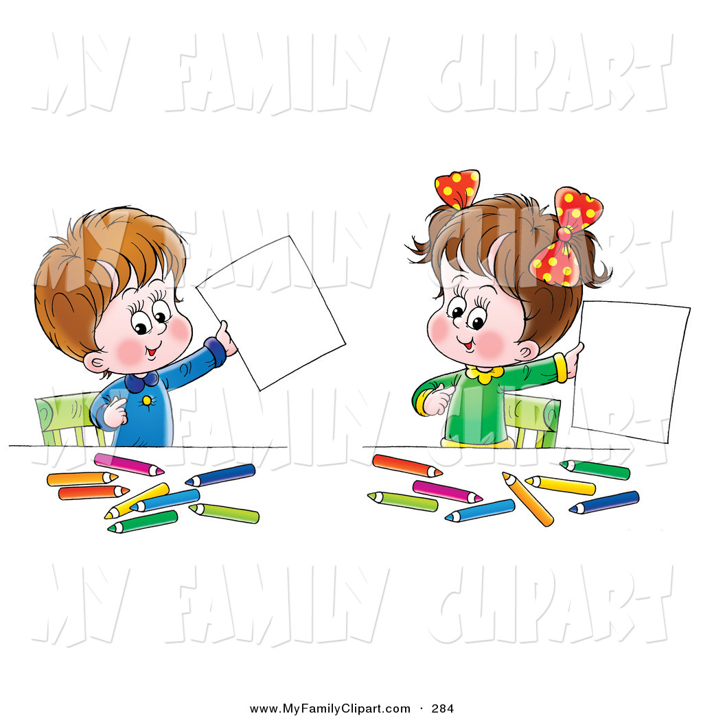 Color clipart boy coloring Boy Proudly and Holding of