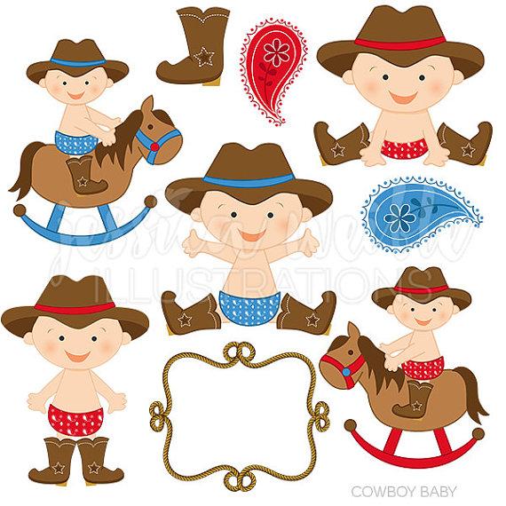 Little Boy clipart cowboy Cute Cowboy  Digital Baby
