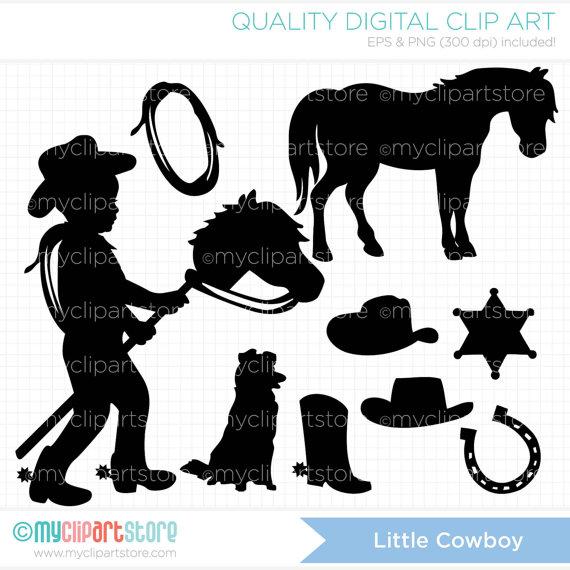 Little Boy clipart cowboy Wild digital west Cowboy Stamps