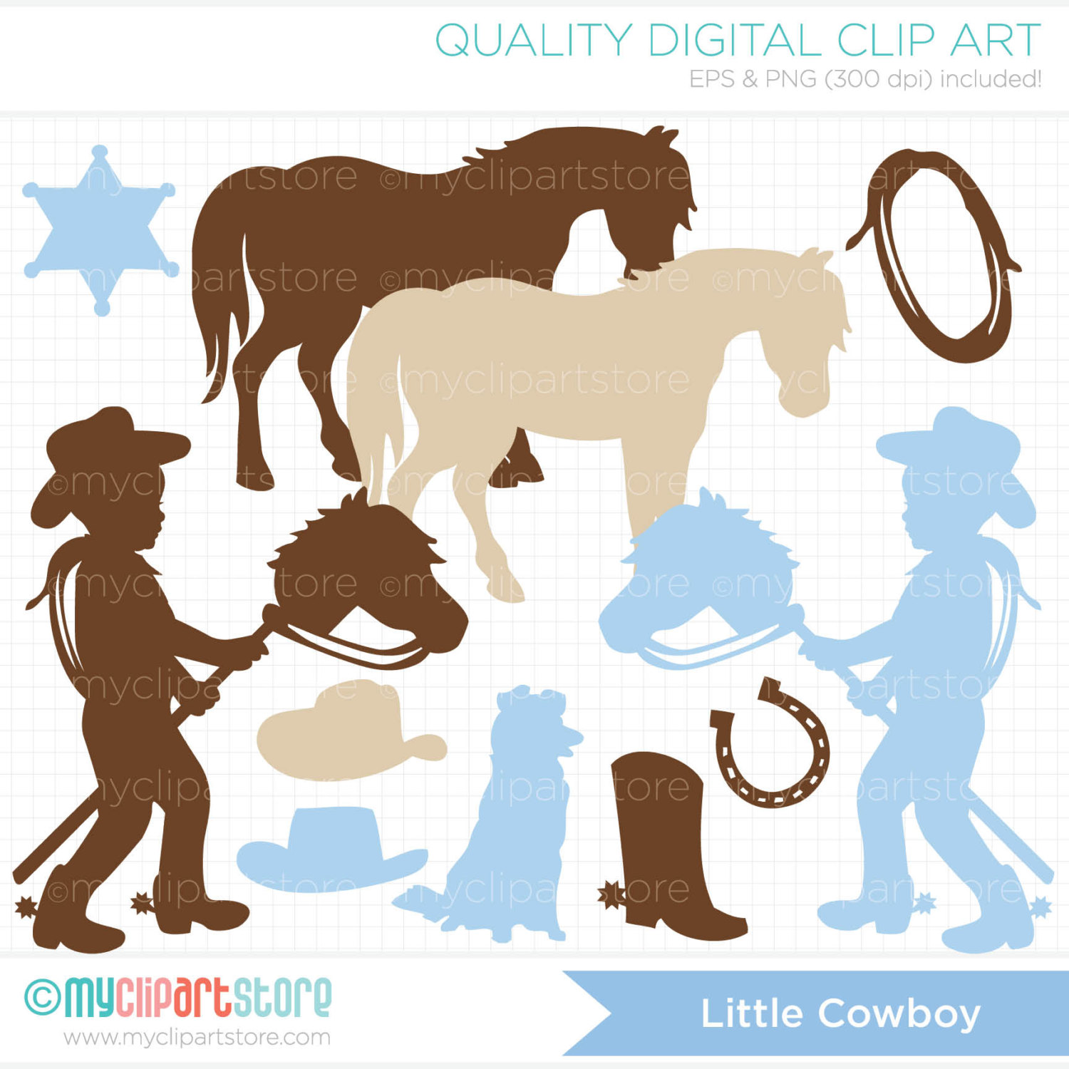 Cowgirl clipart toddler West  Silhouettes Cowboy wild