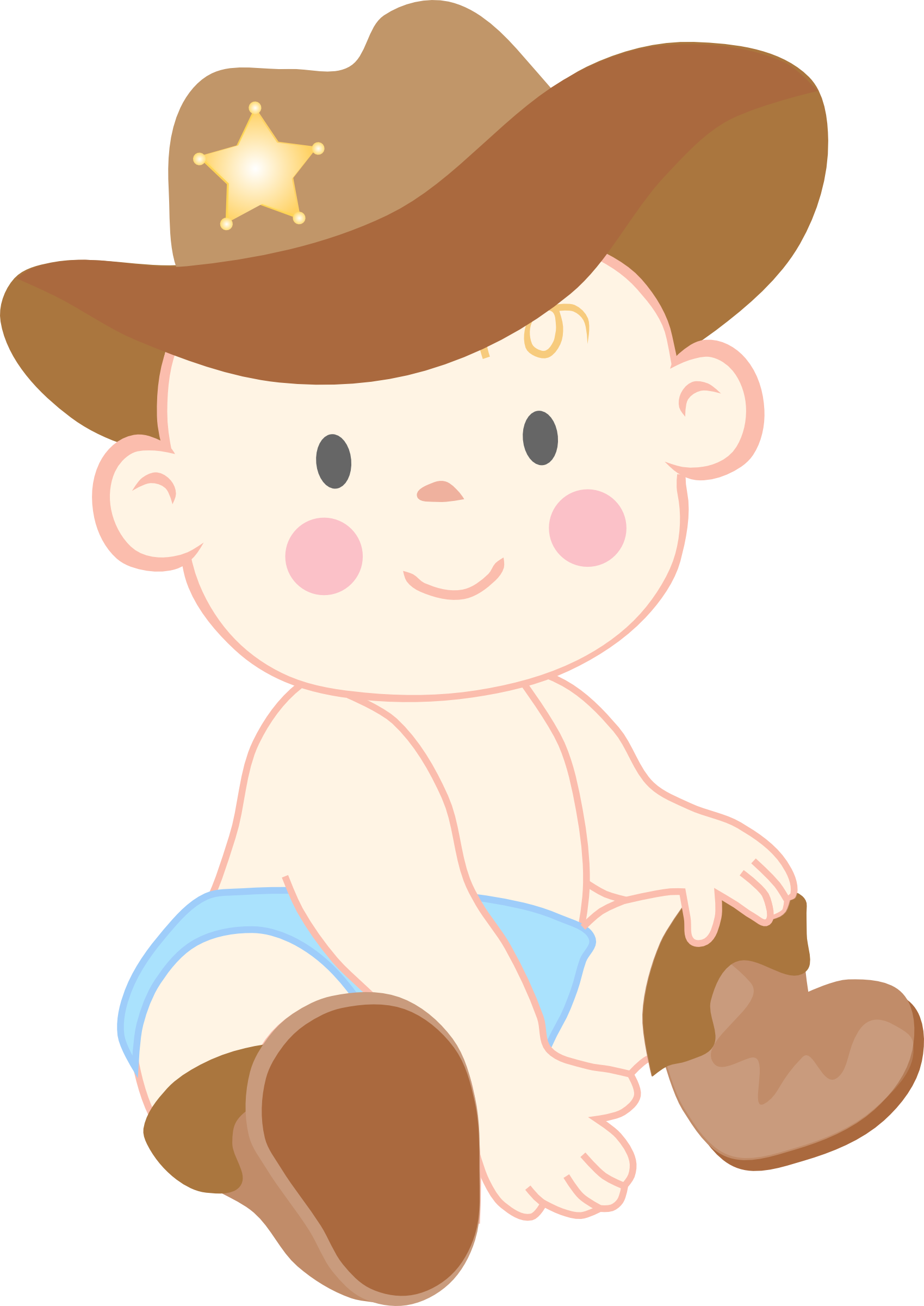 Cowgirl clipart baby shower Hat Baby Boy Clipart Art