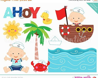Little Boy clipart crabby SALE Sailor Baby Clip Cute