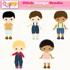 Little Boy clipart cute Graphics perfect  for Little