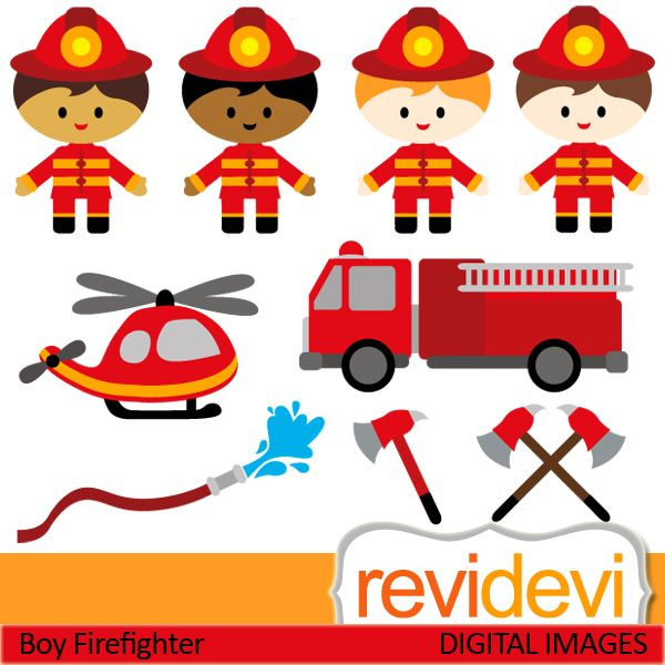 Little Boy clipart fireman Baby and Pin boy this