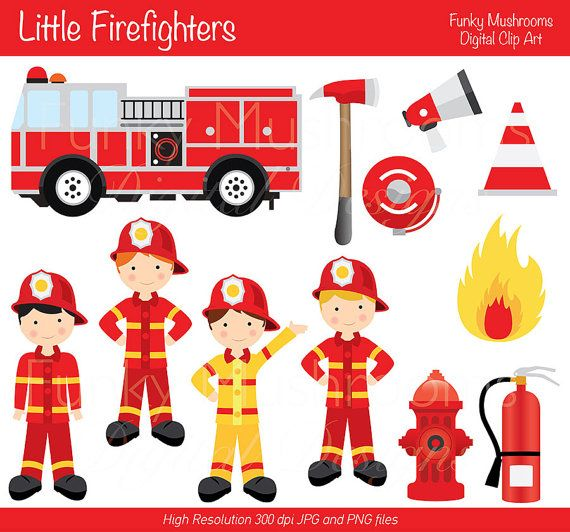 Little Boy clipart fireman Note Card images you note