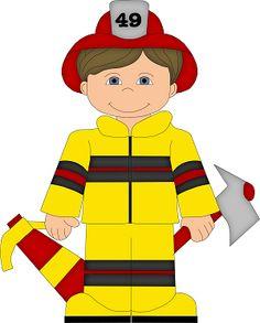 Little Boy clipart fireman Jump Boy BabyKids Firefighter with