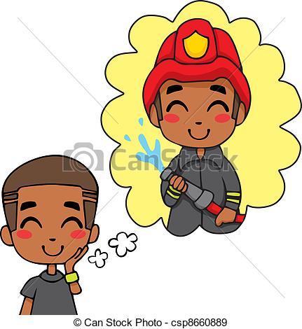 Little Boy clipart fireman Of csp8660889 Boy  Fireman