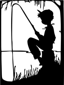 Fisherman clipart silhouette Stock truly Little  boy