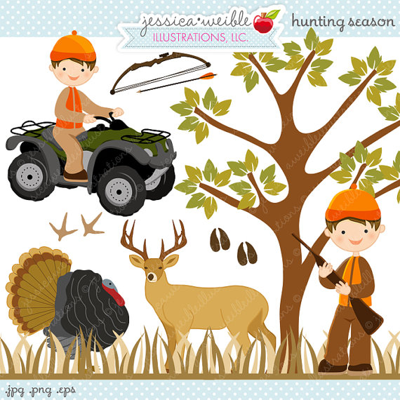 Wildlife clipart turkey hunting Cute Clipart Digital Il_570xn Little