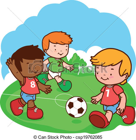Football clipart kid football Playing art Football Clipart soccer