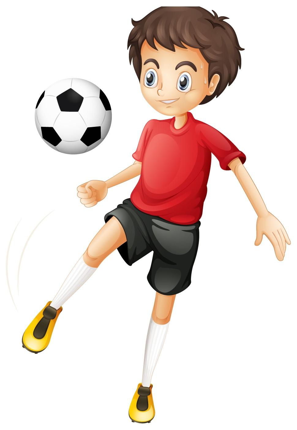 Little Boy clipart kid football Player Player Cartoon Kids H
