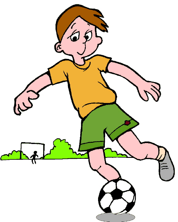 Little Boy clipart kid football Football Playing Clipart Image playing