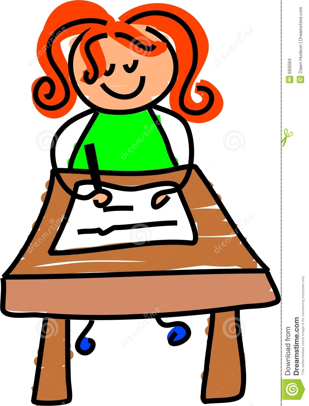 Desk clipart little Free Kids And  Clipart