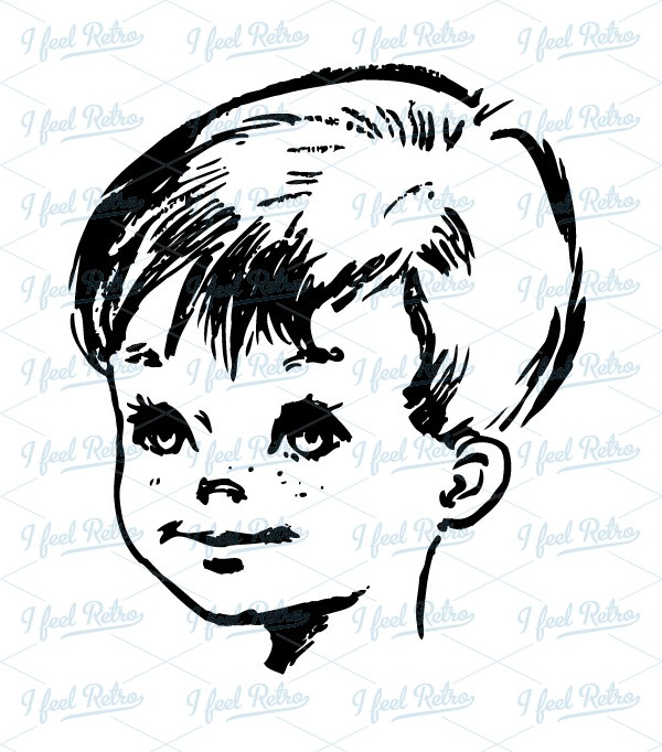 Little Boy clipart nice boy Clipart: little Vintage boy Cute