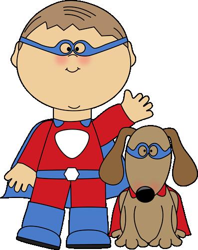 Boy clipart superhero Clip Clip Clip Dog Superhero