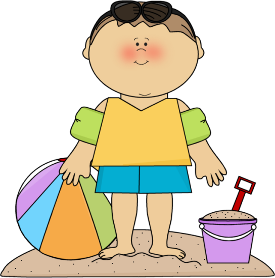 Beach clipart beach person BOY ON SUMMER ART CLIP