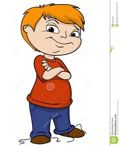 Little Boy clipart puzzled  Stock puzzled young with