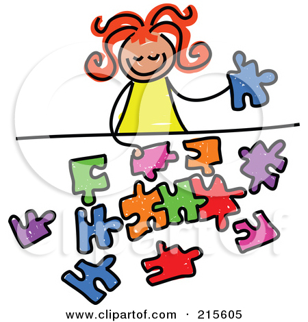 Little Boy clipart puzzled Images Free Clipart Art Teachers