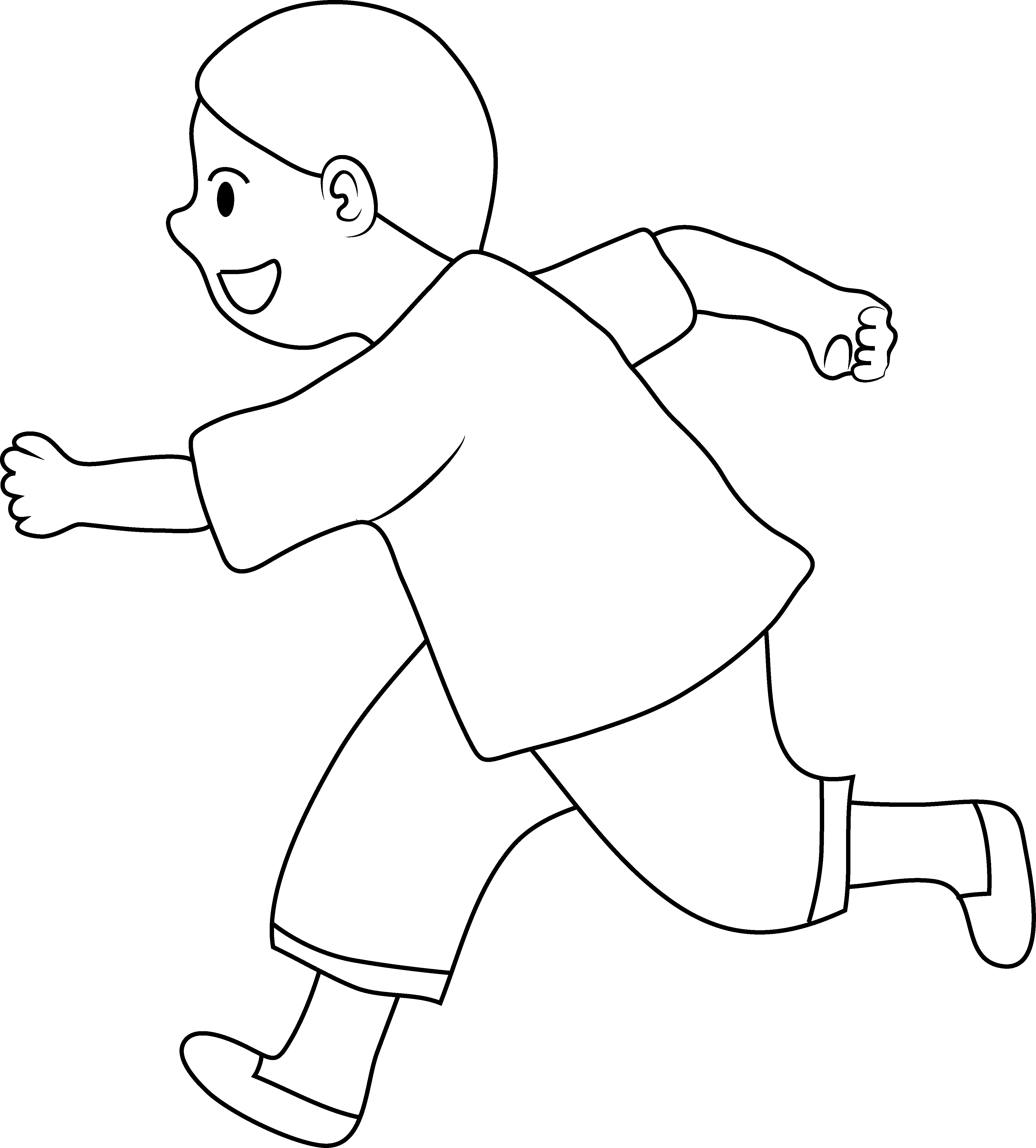 Little Boy clipart run Boy Clip Page of Line