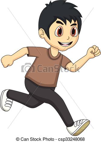 Little Boy clipart run Boy full boy  running