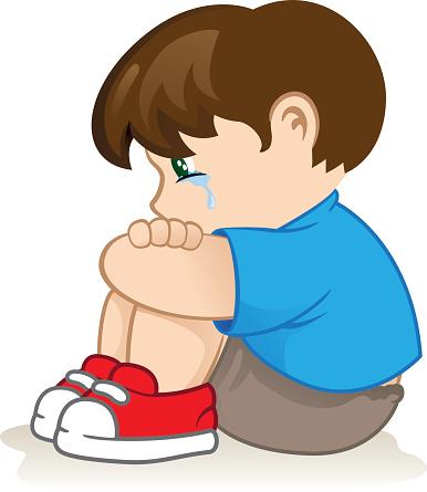 Sad clipart sad kid #10