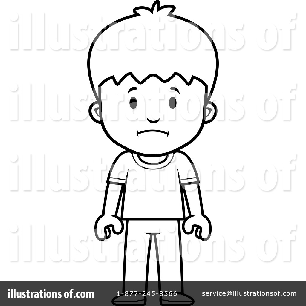 Little Boy clipart shocked Com Sad White Clipart Boy