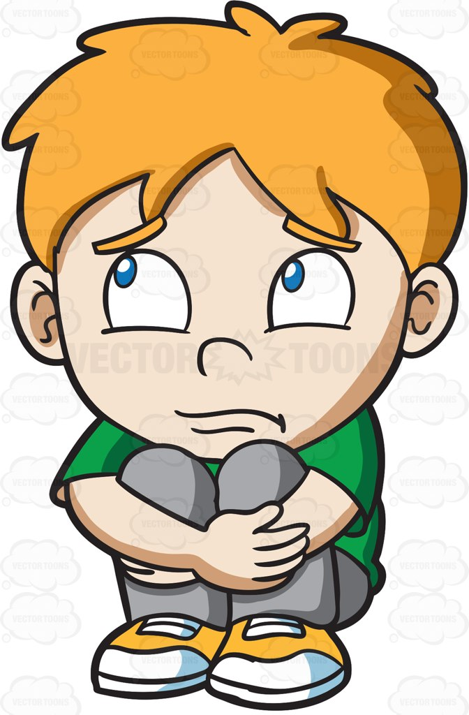 Red Hair clipart child sad #1