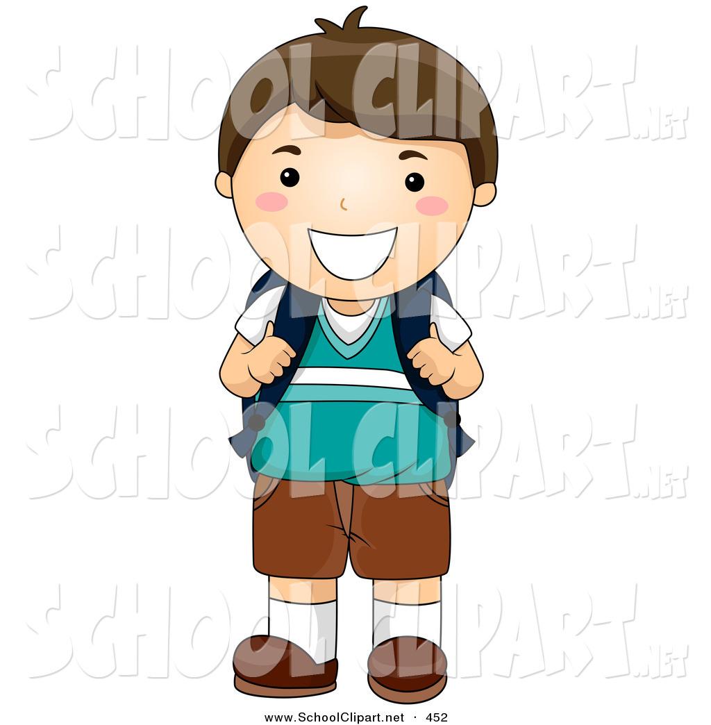 Little Boy clipart school boy Onto Designs Straps Smiling Royalty
