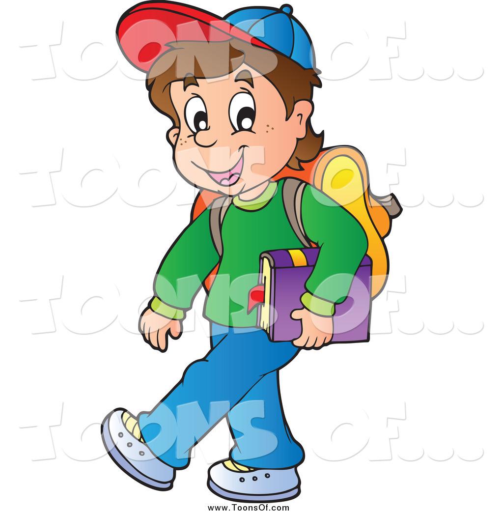 Little Boy clipart school boy Royalty Boy Carrying Stock Designs
