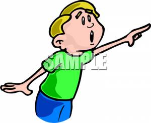Little Boy clipart shocked Pointing Shocked Pointing Boy Art