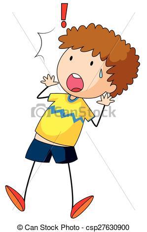 Little Boy clipart shocked  Boy feeling Close Clipart