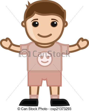 Boy clipart small boy Boy of Character Cute EPS