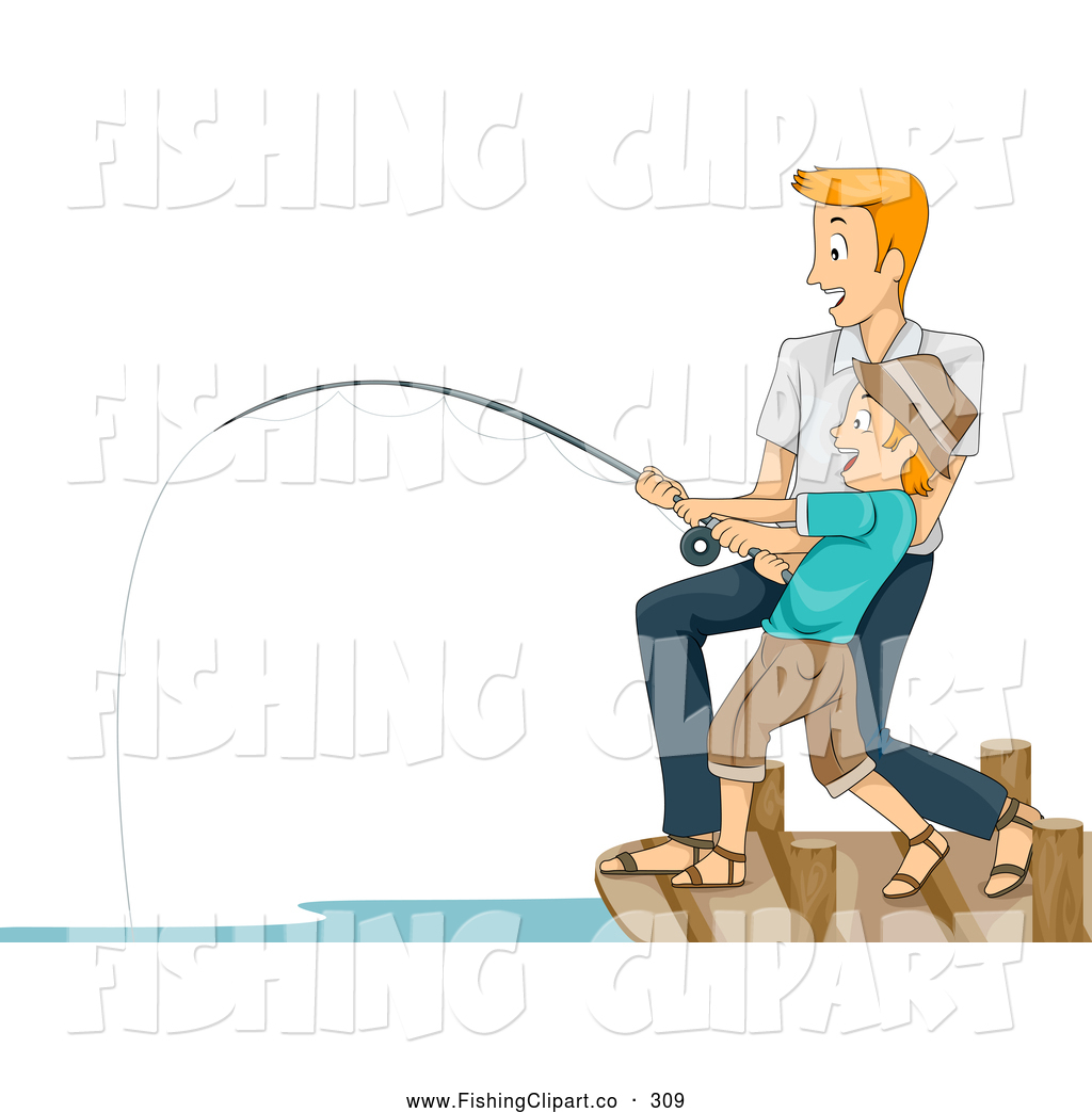 Fisherman clipart catch fish Father Royalty Happy Fishing Big