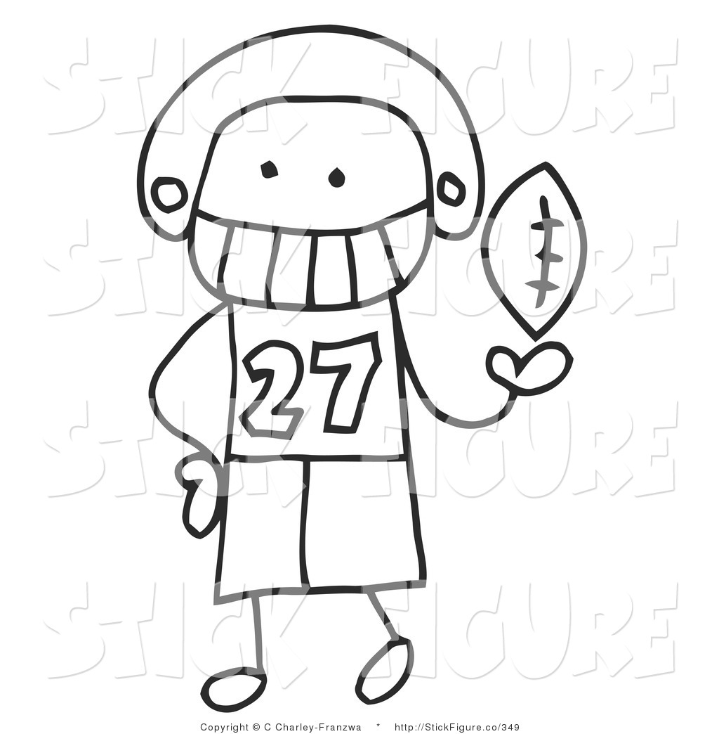 Little Boy clipart stick figure Football Free Figure Royalty Stick