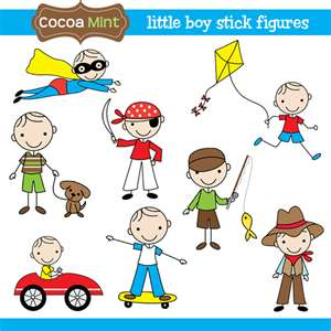 Little Boy clipart stick figure Figures Little Stick Art Boy