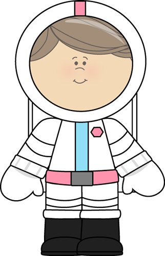 Spacesuit clipart female astronaut Hair with and helmet Clip