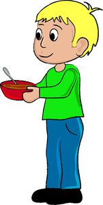 Little Boy clipart thin boy Parenting a Illustration Bowl Boy