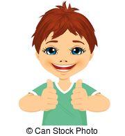 Little Boy clipart thumbs up Little boy  u showing
