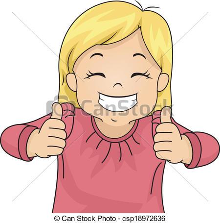 Little Boy clipart thumbs up Thumbs Girl csp18972636 Vectors of
