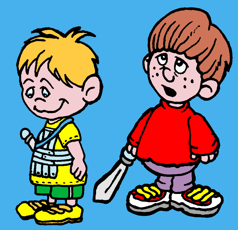 Little Boy clipart two boy Cartoon Art Boys on Boys