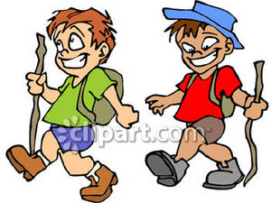 Little Boy clipart two boy Clipart Hiking  Boy