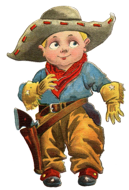 Cowboy clipart vintage cowboy Clip Graphics Art The Cowboy